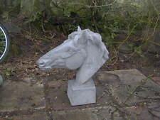 Pair Horses Heads  garden ornament statue   gate post top horse