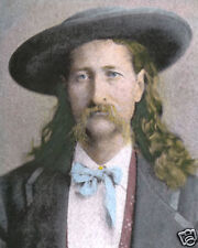 "JAMES BUTLER ""WILD BILL"" HICKOCK hat WESTERN HERO 8x10"" HAND COLOR TINTED PHOTO"