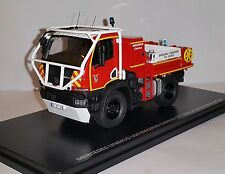 Camion de Sapeurs Pompiers MERCEDES Unimog CCF U20 Magirus Camiva 1/43 ALERTE