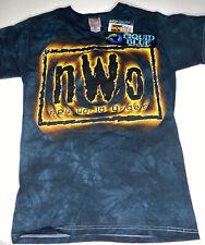 Vintage DeadStock NWO NWT Liquid Blue Tie Dye T-Shirt Fruit Of Loom Sz Small