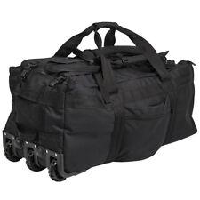 Mil-Tec Large Wheeled Travel Kit Gear Equipment Bag Holdall Carryall 100L Black