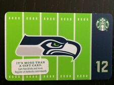 RARE Limited Edition 2016 Starbucks NFL Seattle Seahawks Gift Card Never Swiped
