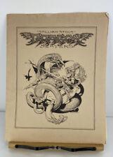 Dragon Slayers William Stout Signed 1979 Portfolio Plates Numbered 381/1000 Fair
