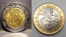 SAN MARINO 500 & 1000 Lire Bimetalliche dal 1982 al 2001 FDC (UNC)