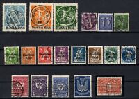 P135659/ GERMANY – YEARS 1920 - 1922 USED SEMI MODERN LOT – CV 189 $
