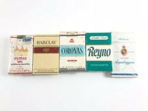 Pacchetti di Sigarette Vintage COMPLETI 5 PZ