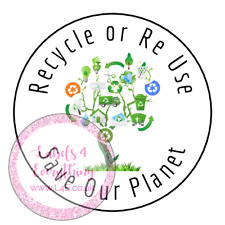 Recycle Re Use Save Our Planet Recycling Earth Tree Stickers Labels