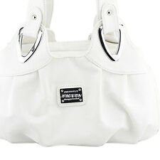 Fashion handbag Women PU leather Bag Tote Bag Handbags Satchel -Matte White SHC4