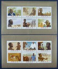 Namibia 2006 Trad. Berufe Trad. Roles of Man Musik Felsmalerei Block 64-65 MNH