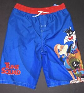 LOONEY TUNES A NEW LEGACY SPACE JAM Swim Trunks Shorts - Size 14/16 New