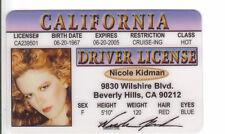 Nicole Kidman fun novelty ID card Drivers License