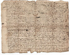 1734 Louis XV king advisor and royal judge original manuscript document signed