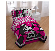Minnie Mouse Comforter Set Bedroom Bed Cover Twin Sheets Accessories Children