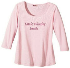 NEU: UMSTANDSMODE SHIRT GLITZERDRUCK LITTLE WONDER GR 44/46 9MONATE rosa *444009