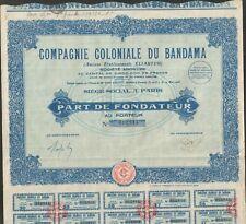 Compagnie Coloniale du BANDAMA (COTE d'IVOIRE) (A)