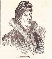Antique print John the Fearless  Jean sans Peur Jan zonder Vrees 1833