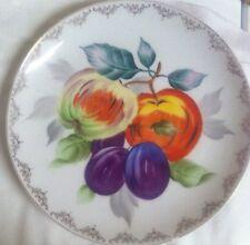 """Vintage Norcrest Fine China Fruit Plate Numbered Gold Trim  10 3/4"""""""