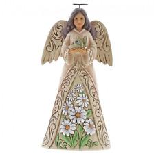 Jim Shore Heartwood Creek Birthday April Angel Ornament 6001565