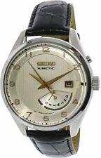 Seiko Men's SRN049 Black Calf Skin Kinetic Dress Watch