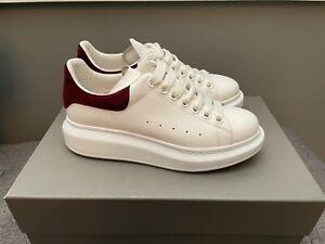 Alexander McQueen Oversized Sneakers White/Burgundy - Size 38