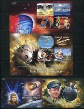 Antigua 2011 Raumfahrt Space Gagarin Weltraum Espace Satz und Blocks Postfrisch