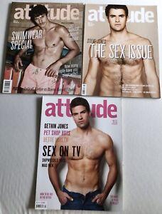 ATTITUDE MAGAZINE x3 Gay Interest Steve & Gethin Jones - May Aug 2008 April 2009