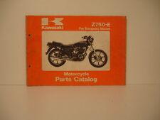 Z 750 E parts list catalogue pièces détachées parts catalog KAWASAKI Z750E 1980