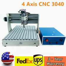 4 Axis Cnc 3040 Router Engraving Wood Engraver Carving Cutting Machine Usb Port