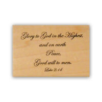 Glory to God mounted rubber stamp, religious Christmas bible verse CMS #7