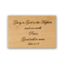 Glory to God mounted rubber stamp, religious Christian Christmas CMS #7