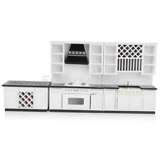 Modern 1/12 Dolls House Kitchen Furniture Set 3p Sink Stove Cabinet Cupboard