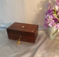 Gorgeous Early 19th Century Antique Box-Rosewood and Mop with Lead Stringing