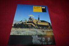 Caterpillar Cat AP-1000B Rubber Tire Asphalt Paver Brochure FCCA