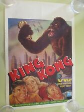 KING KONG ORIGINAL MOVIE POSTER NOT A REPRODUCTION BELGIAN CINEVOG 1950S
