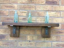 Industrial, Rustic Solid  Wall Shelf, Reclaimed Wood