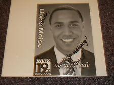 Lionel Moise signed 5x7 photo TV Anchor Columbia SC Chicago IL