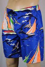 RLX Ralph Lauren Royal Blue Nautical Swim Shorts Trunks NWT