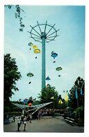 Six Flags Over Georgia Postcard The Great Gasp Parachute Amusement Ride #75326