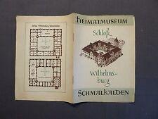 Broschur, Heimatmuseum Schloß Wilhelmsburg Schmalkalden, DDR 1963