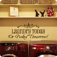 Removable Laundry Room Quote Wall Sticker Vinyl Art Decorative Washhouse Decals