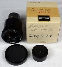 Carl Zeiss Oberkochen Opton S-PL Planar 100mm f2.8 with original box