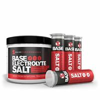 BASE Performance electrolyte salt | 226 Servings tub with 4 refillable race