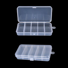 White  Fishing Jig Box Insert Hook Storage Case Bait Lure 5 Compartments Nice 7N