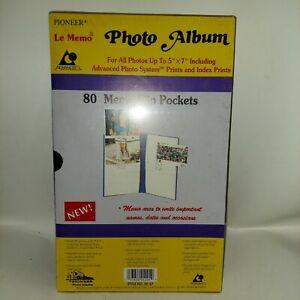 Vintage Pioneer Le Memo 80 Photo Flip Pocket Album Factory Sealed
