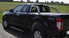 Ford Ranger T6 Super Cab - Soft Roll Up Tonneau Cover - Fits with OE Roll Bar
