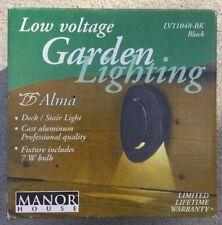 Manor House Low Voltage Deck / Light Lighting LV11048BK Cast Aluminum Black