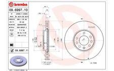 2x BREMBO Discos de Freno Traseros Ventilación interna 288mm 09.6997.11