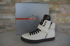 PRADA  35,5 Stiefeletten Booties High-Top Sneakers Schuhe shoes weiß neu UVP490€