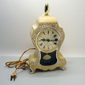 Vintage Westclox Neuchatel S.135 Electric Mantel Clock with pendulum Canada