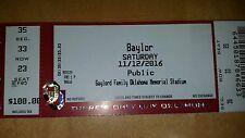 Oklahoma Sooner - OU  vs Baylor STUB 2016
